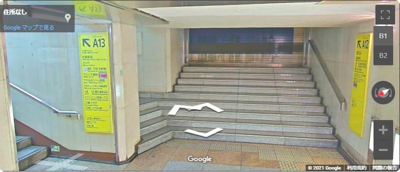 松屋銀座前 銀座駅 地下通路
