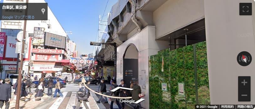JR御徒町駅出口からアメ横アクセス
