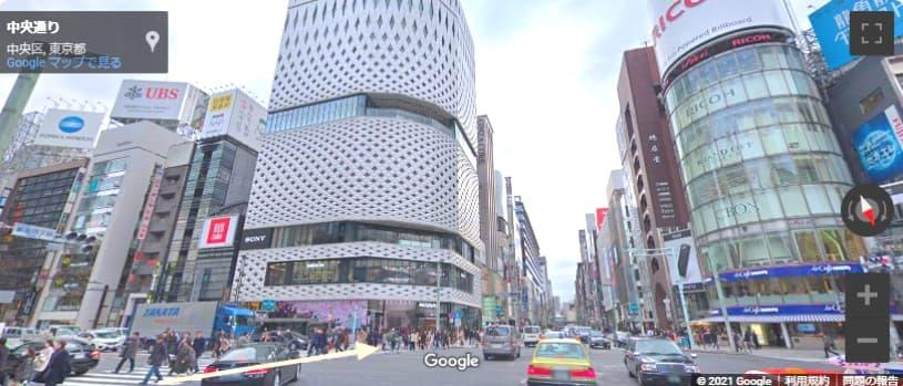 銀座シックスの行き方 4丁目交差点