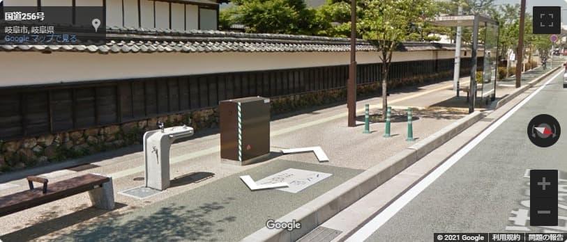 岐阜城の最寄りバス停までのアクセス