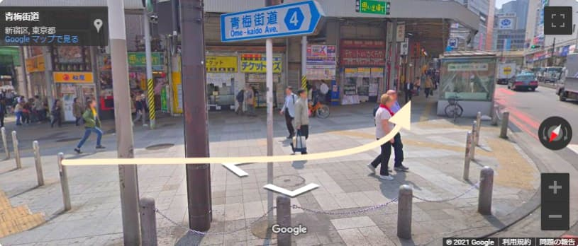 西武新宿駅からロフトへのアクセス